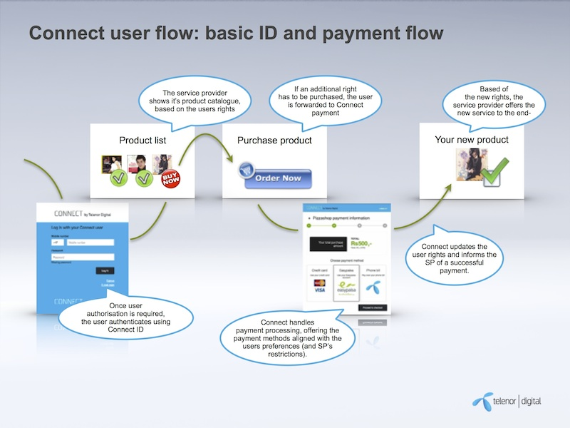 User flow overview